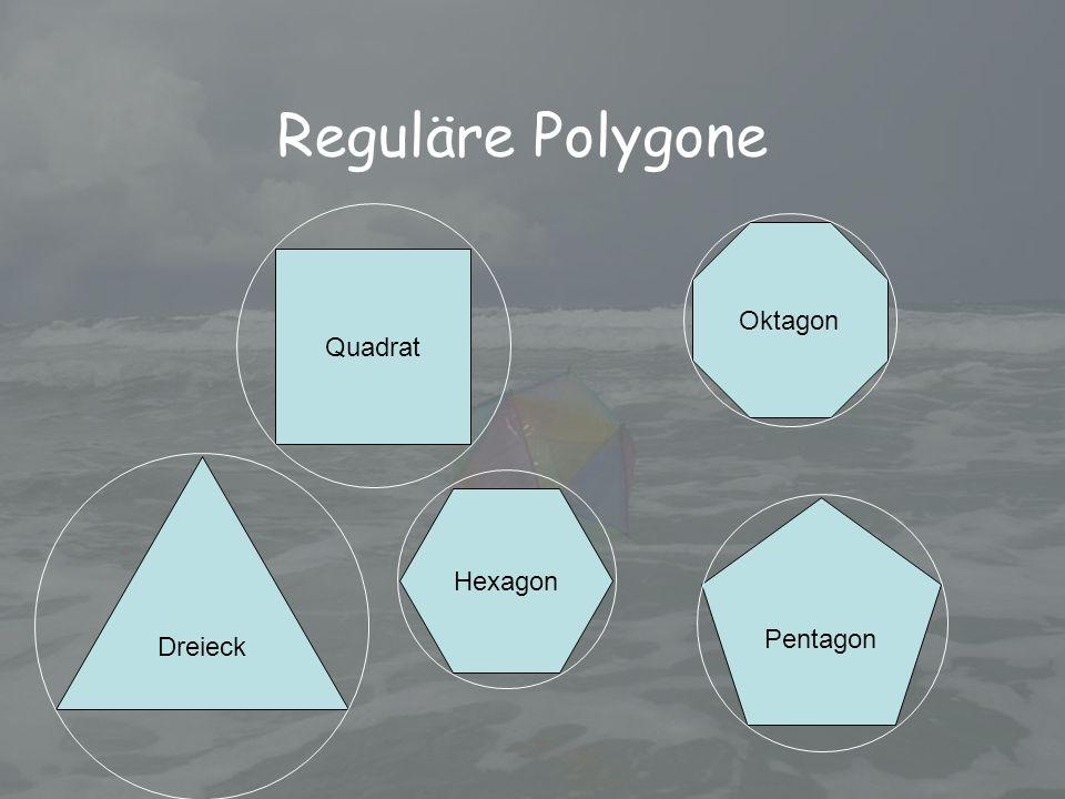 Reguläre Polygone Dreieck Quadrat Pentagon Hexagon Oktagon