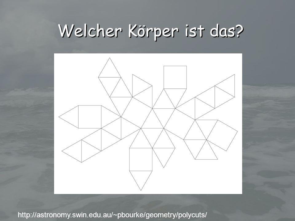 http://astronomy.swin.edu.au/~pbourke/geometry/polycuts/ Welcher Körper ist das?