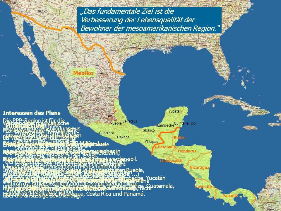 Puebla Oaxaca Chiapas Campeche Tabasco Yucatán Quintana Roo Guatemala Belize El Salvador Honduras Nicaragua Costa Rica Panamá Mexiko Guerrero Veracruz