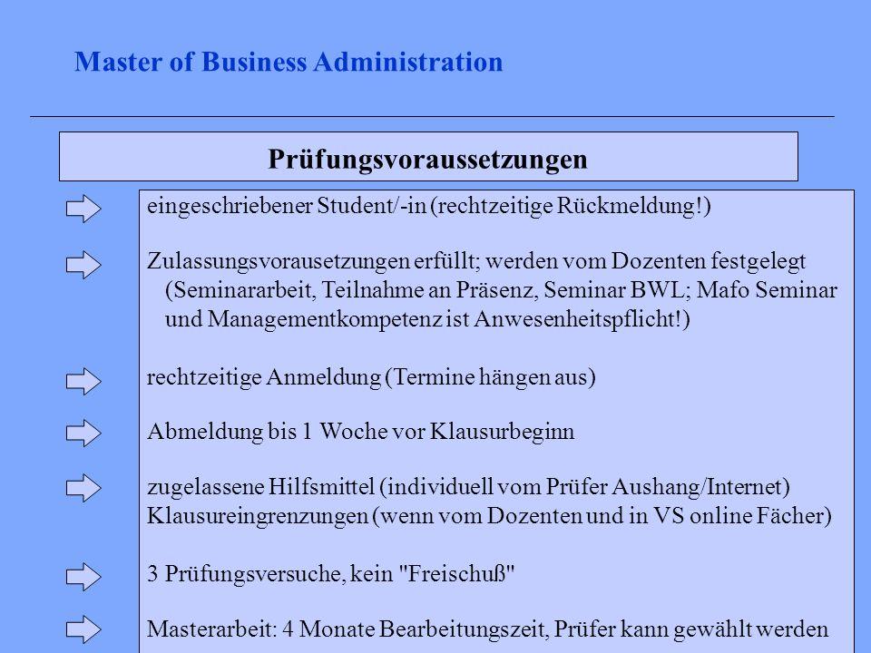 Prüfungsvoraussetzungen eingeschriebener Student/-in (rechtzeitige Rückmeldung!) Zulassungsvorausetzungen erfüllt; werden vom Dozenten festgelegt (Sem
