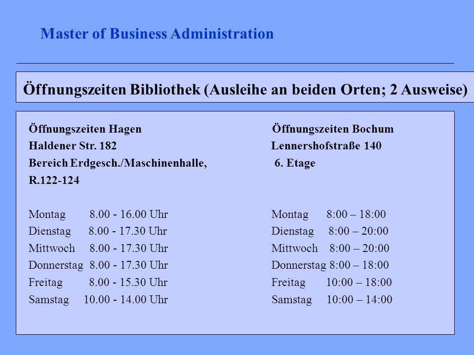 Öffnungszeiten Bibliothek (Ausleihe an beiden Orten; 2 Ausweise) Öffnungszeiten Hagen Öffnungszeiten Bochum Haldener Str. 182 Lennershofstraße 140 Ber