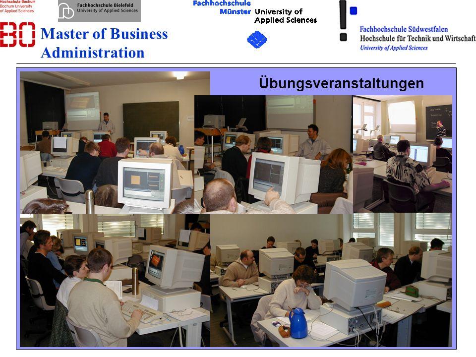 12 08.12.2007 Übungsveranstaltungen Master of Business Administration