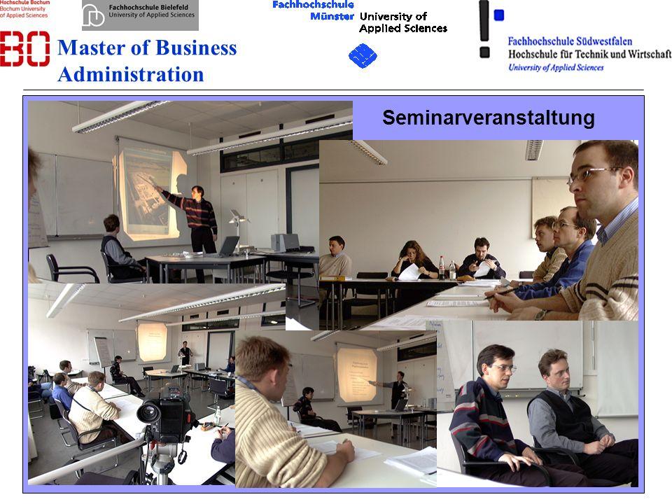 13 08.12.2007 Seminarveranstaltung Master of Business Administration