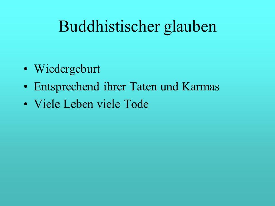 Buddhistischer glauben Wiedergeburt Entsprechend ihrer Taten und Karmas Viele Leben viele Tode