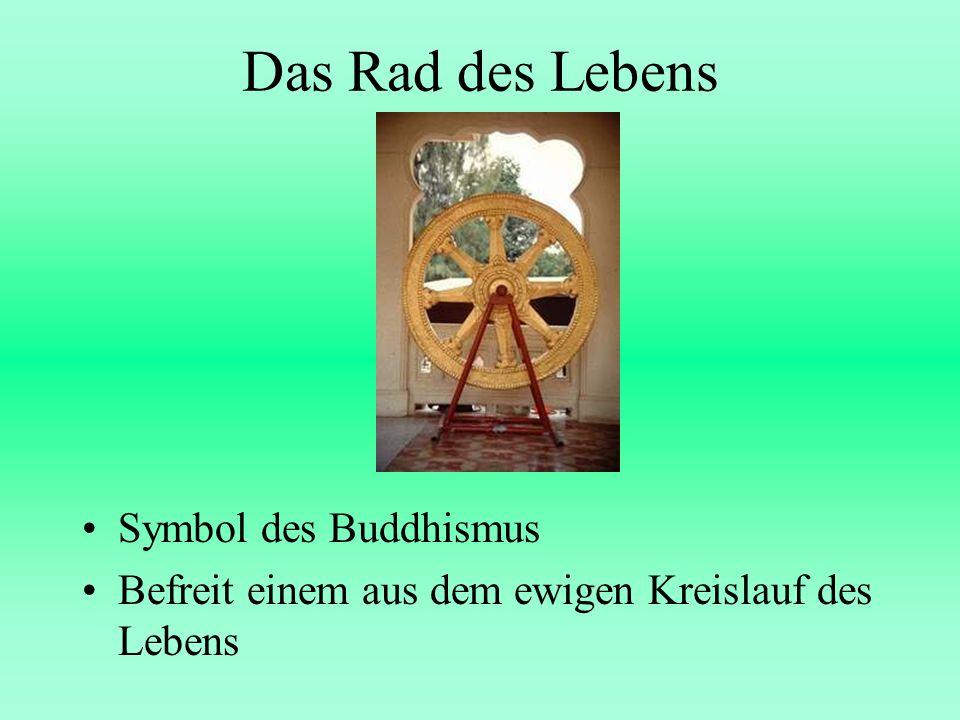 Das Rad des Lebens Symbol des Buddhismus Befreit einem aus dem ewigen Kreislauf des Lebens
