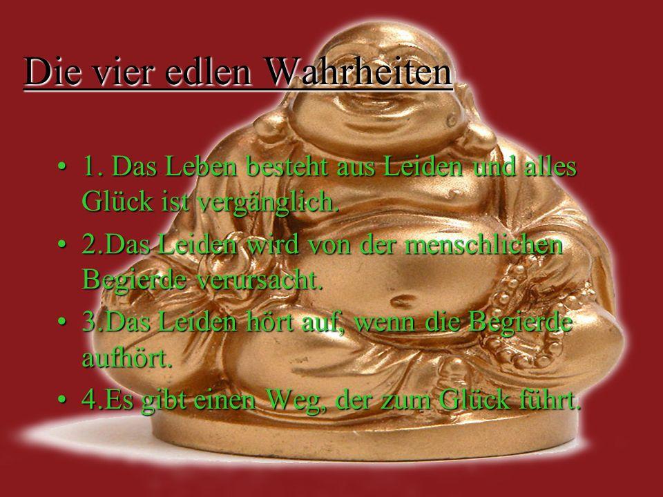 Der achtfache Pfad Ein Rad mit acht Speichen ist das Symbol des Buddhismus.Es erinnert an die acht Tugenden, nach denen Buddhisten leben müssen, um das Leiden zu überwinden und das Nirwana zu erreichen.Ein Rad mit acht Speichen ist das Symbol des Buddhismus.Es erinnert an die acht Tugenden, nach denen Buddhisten leben müssen, um das Leiden zu überwinden und das Nirwana zu erreichen.