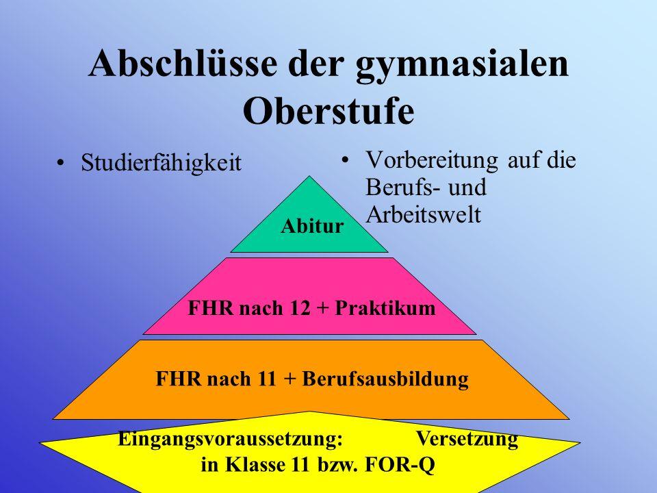 Information über das Kurssystem der gymnasialen Oberstufe am Mariengymnasium (Eintritt 2008)