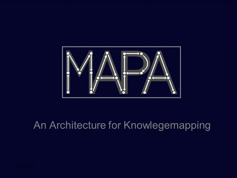 23.01.2002 An Architecture for Knowlegemapping