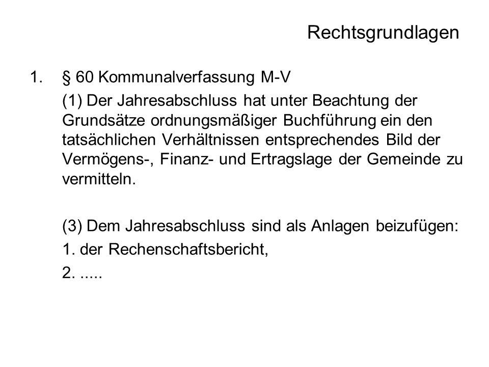Rechtsgrundlagen 2.§ 42 GemHVO-Doppik (2) Dem Jahresabschluss sind als Anlagen beizufügen: 1.