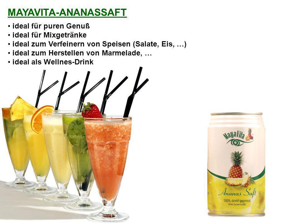 ideal für puren Genuß ideal für Mixgetränke ideal zum Verfeinern von Speisen (Salate, Eis, …) ideal zum Herstellen von Marmelade, … ideal als Wellnes-