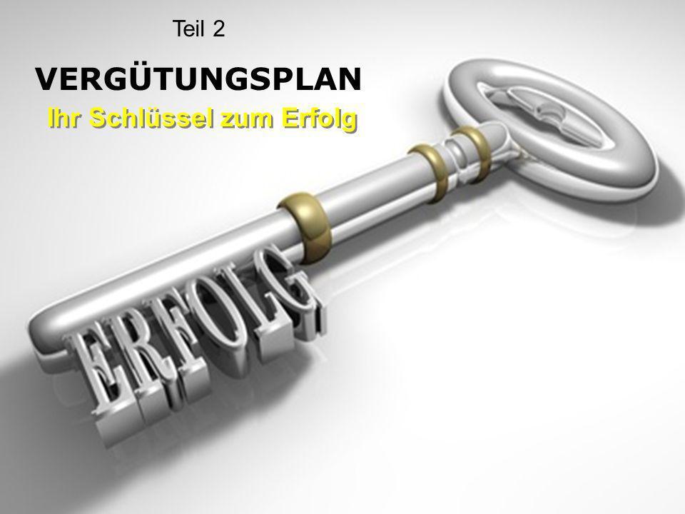 Teil 2 VERGÜTUNGSPLAN Ihr Schlüssel zum Erfolg