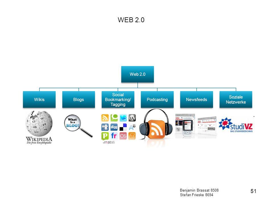 51 WEB 2.0 Benjamin Brassat 8508 Stefan Frieske 8694