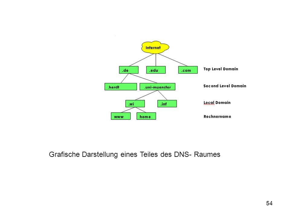 54 Grafische Darstellung eines Teiles des DNS- Raumes