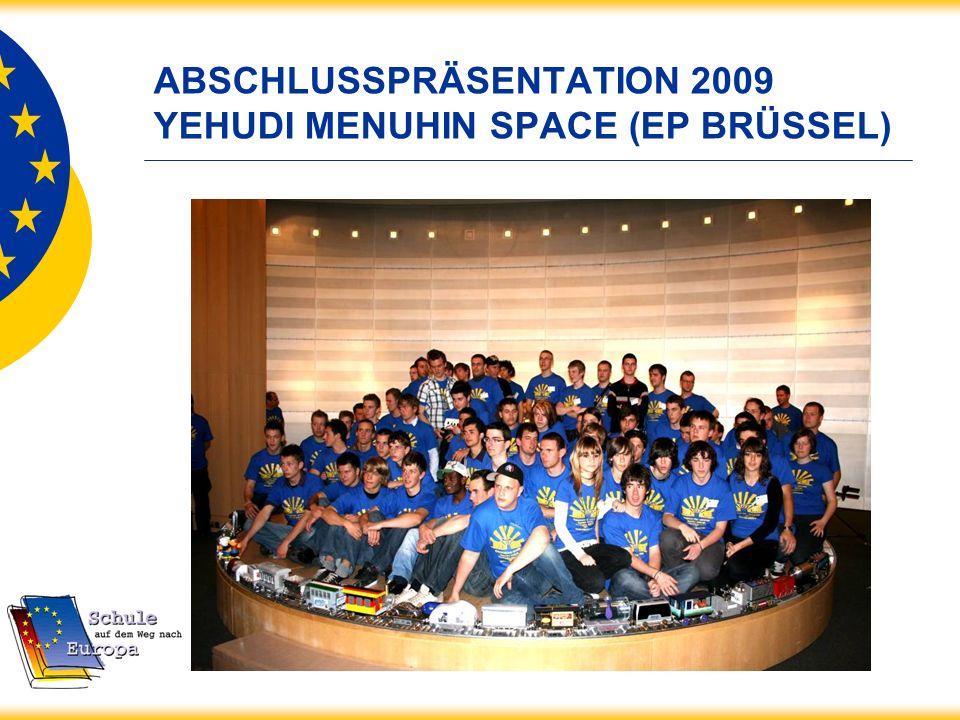 ABSCHLUSSPRÄSENTATION 2009 YEHUDI MENUHIN SPACE (EP BRÜSSEL)