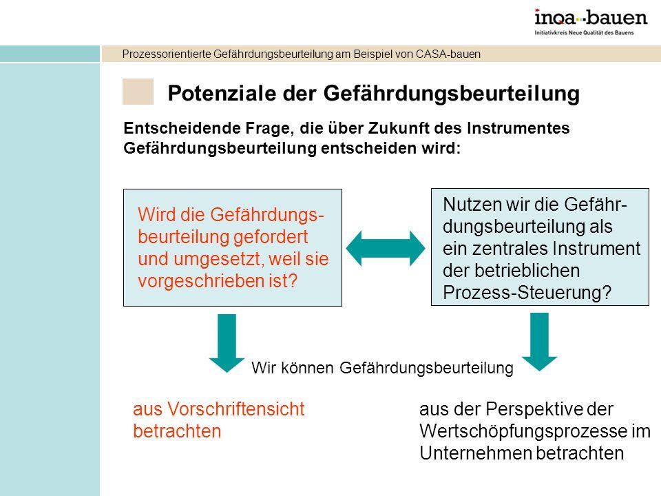 Potenziale der Gefährdungsbeurteilung Entscheidende Frage, die über Zukunft des Instrumentes Gefährdungsbeurteilung entscheiden wird: Wird die Gefährd