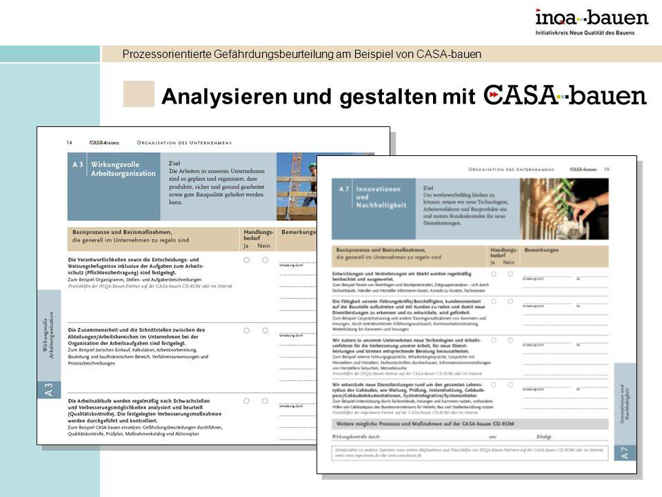 Analysieren und gestalten mit Prozessorientierte Gefährdungsbeurteilung am Beispiel von CASA-bauen