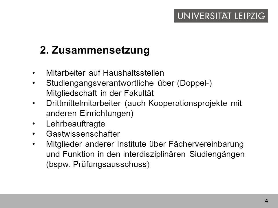 4 2. Zusammensetzung Mitarbeiter auf Haushaltsstellen Studiengangsverantwortliche über (Doppel-) Mitgliedschaft in der Fakultät Drittmittelmitarbeiter