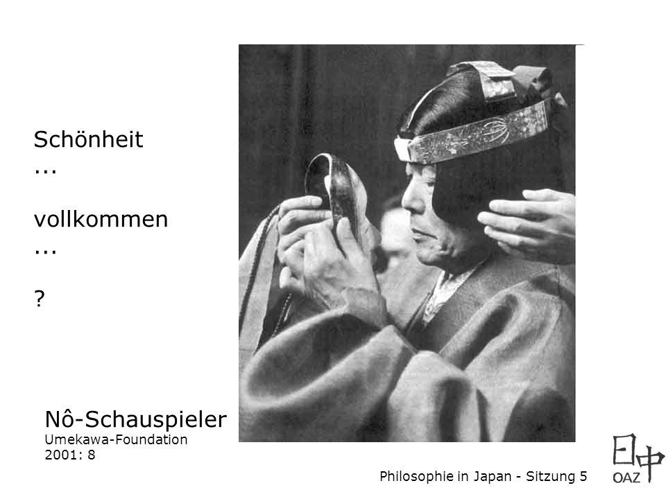 Philosophie in Japan - Sitzung 5 Originalhandschrift von Zeami (Kadensho = Buch vom Überliefern der Blüten, 1424 u.Z.) Umekawa-Foundation 2001: 18 Skizzen...