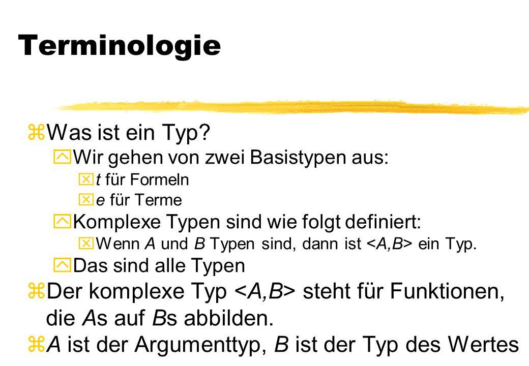 Terminologie zWas ist ein Typ.