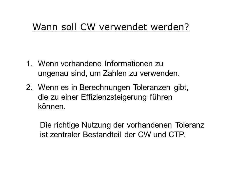 Wann soll CW verwendet werden.