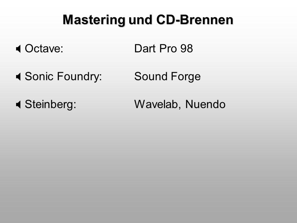 Mastering: Wavelab 2.1 mit Masterbereich und zwei geöffneten PlugIns