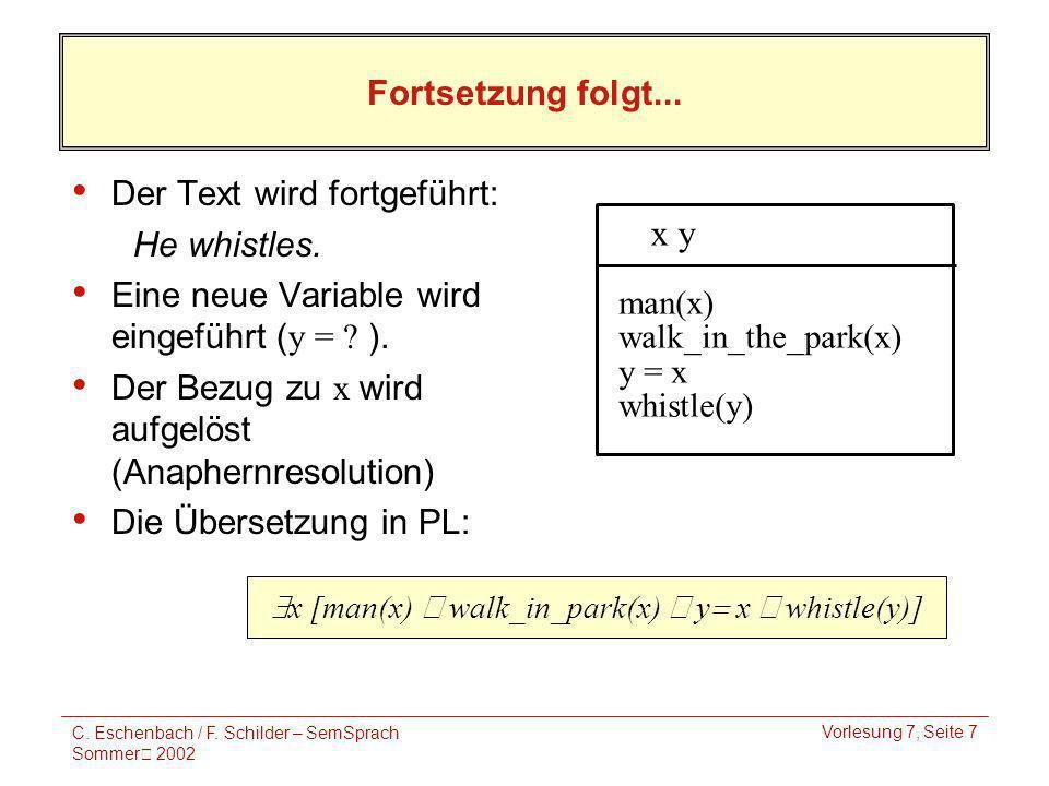 C. Eschenbach / F.