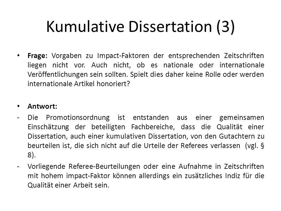 Kumulative dissertation