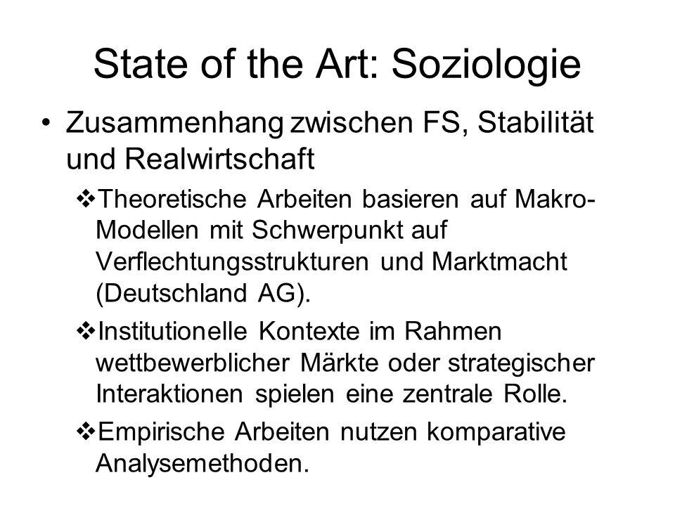 State of the Art: Soziologie Erklärung von Diversität der FS Vergleichende Kapitalismusforschung Risikosoziologie