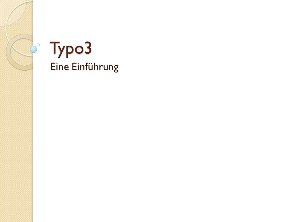 Typo3 Eine Einführung