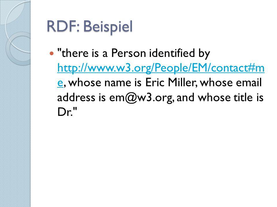 RDF: Beispiel
