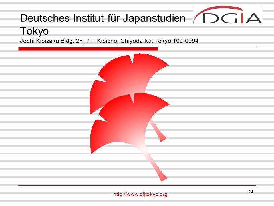 34 Deutsches Institut für Japanstudien Tokyo Jochi Kioizaka Bldg.