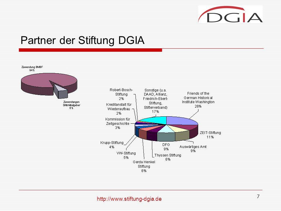 7 Partner der Stiftung DGIA http://www.stiftung-dgia.de
