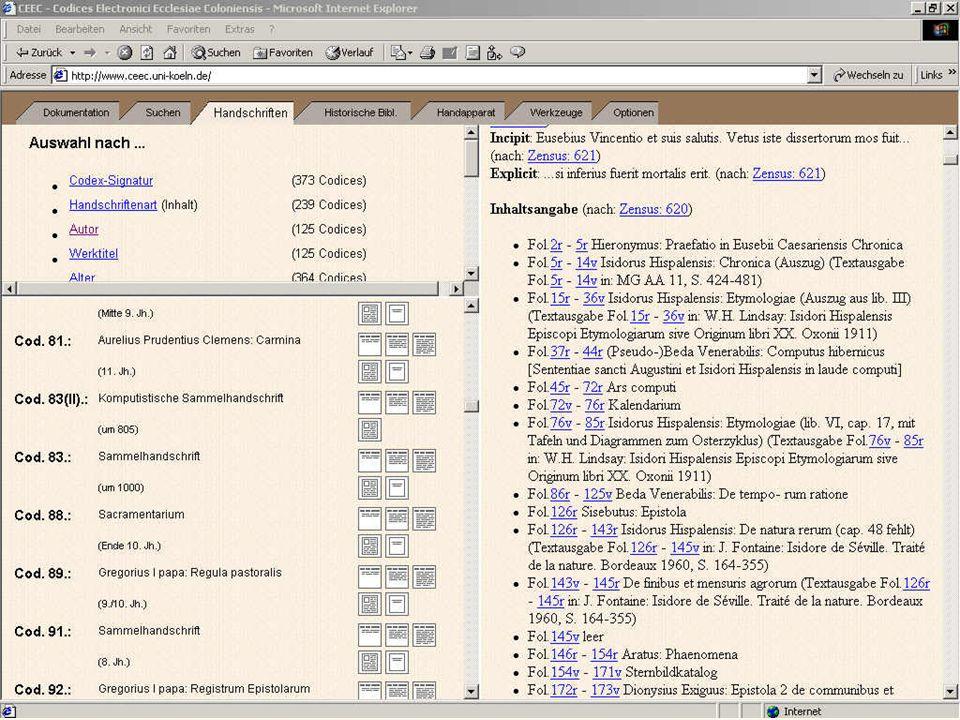 Hs 04: Katalog lang - Inhalt