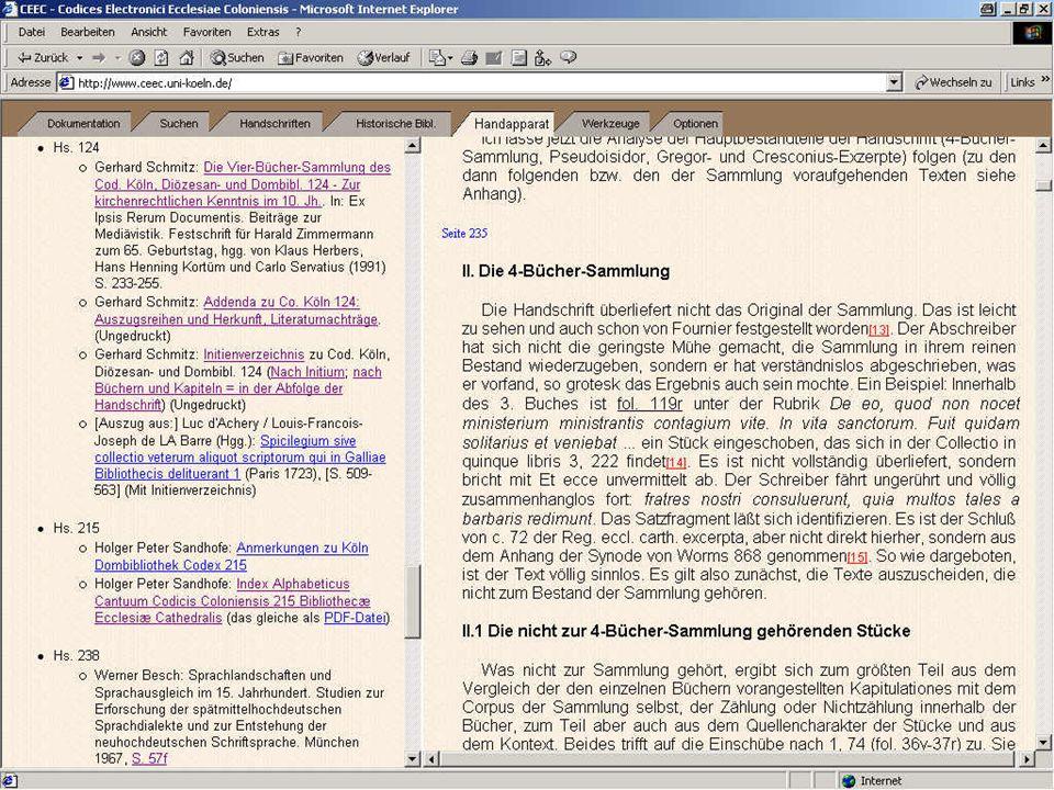 Digitale Bibliothek 4a: Schmitz - Kodizes
