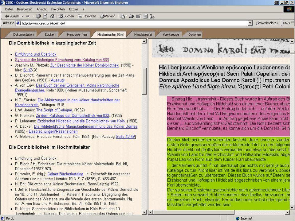 Virtuelle Bibliothek 3: Katalogsynopse