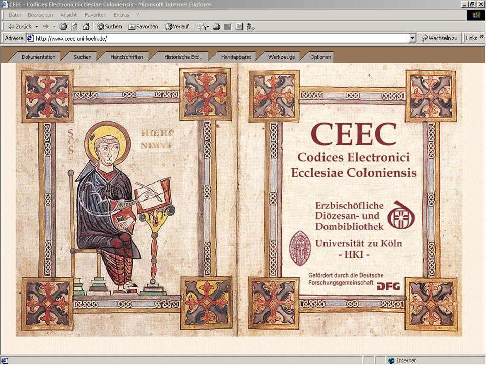 Suchen Beispiel: CEEC- Homepage
