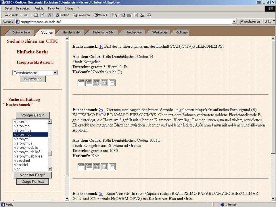 Suchen 3: Suchbegriff spezifizieren + Ergebnis 1
