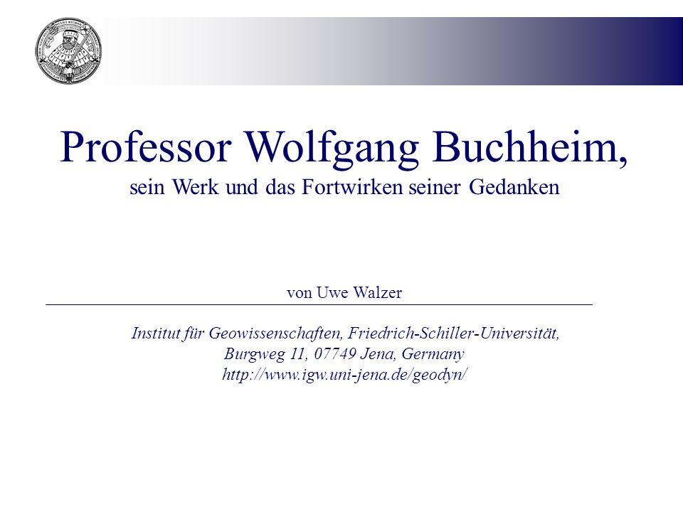Professor Wolfgang Buchheim