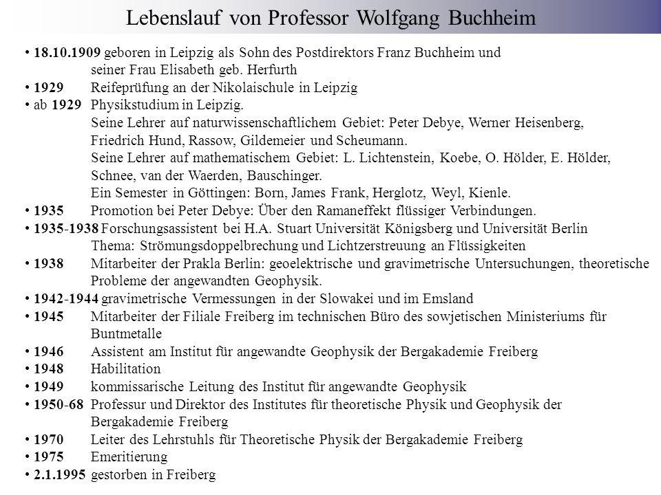 Wissenschaftlicher MitarbeiterDamaliges Hauptgebiet Manfred UhlmannAnwendung der magnetischen H-Z-Fadenwaage Gotthard UhligHypothesenfr.