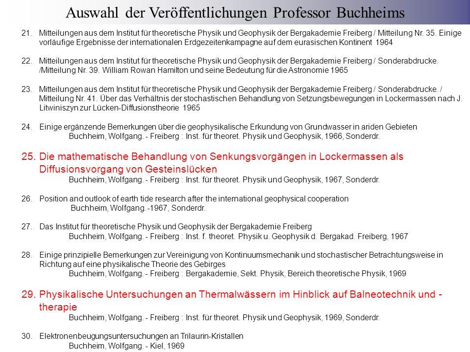 31.Anwendung der Lückendiffusionstheorie auf die Setzung von Kippen und von Lockermassen über bergbaulichen Hohlräumen Buchheim, Wolfgang.