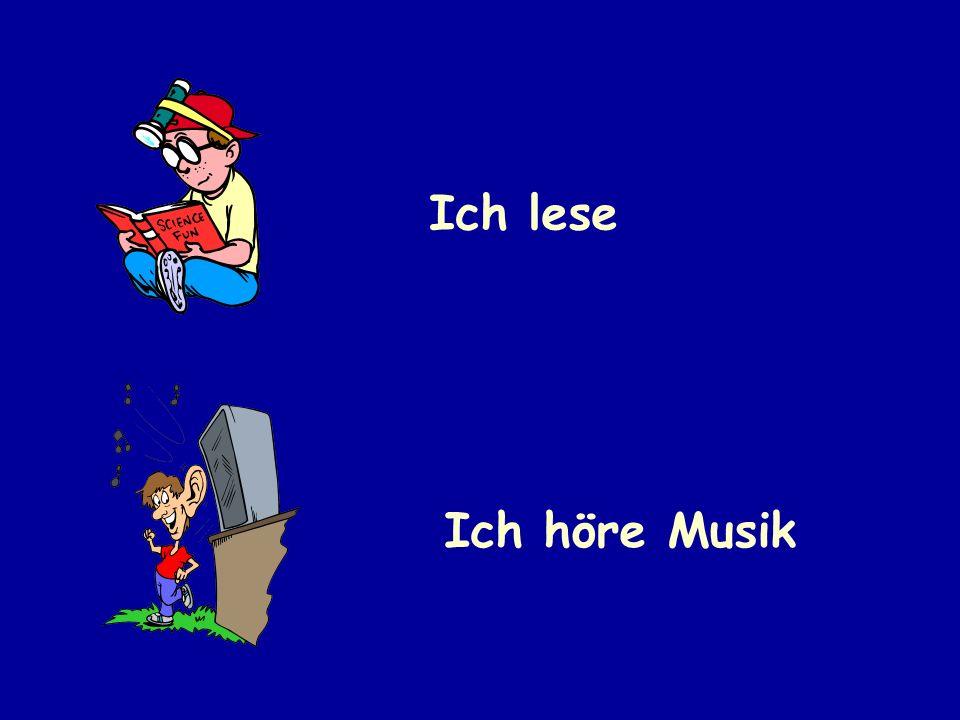 Ich lese Ich höre Musik