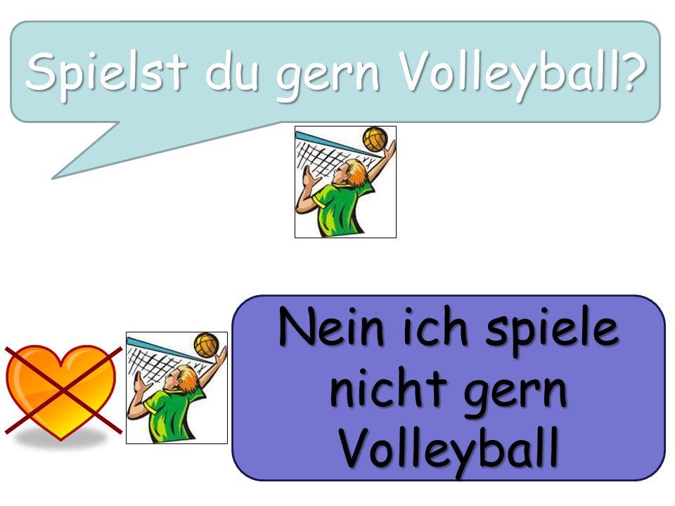 Spielst du gern Volleyball? Nein ich spiele nicht gern Volleyball