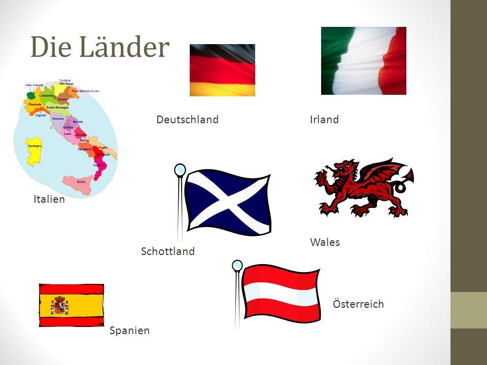 Die Länder Ich fahre nach Österreich.Ich fahre nach Schottland.