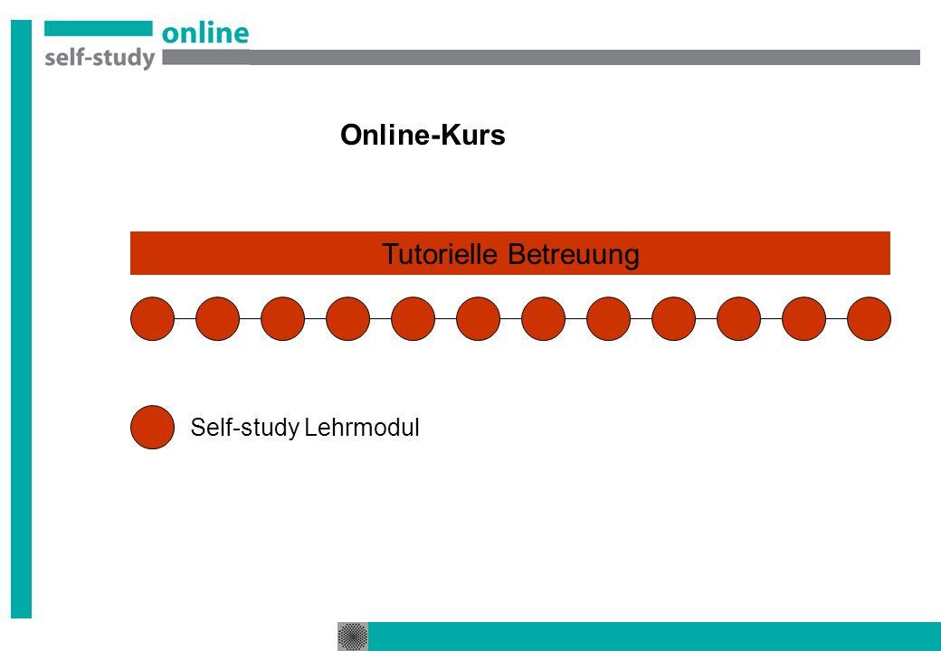 Online-Kurs Self-study Lehrmodul Tutorielle Betreuung