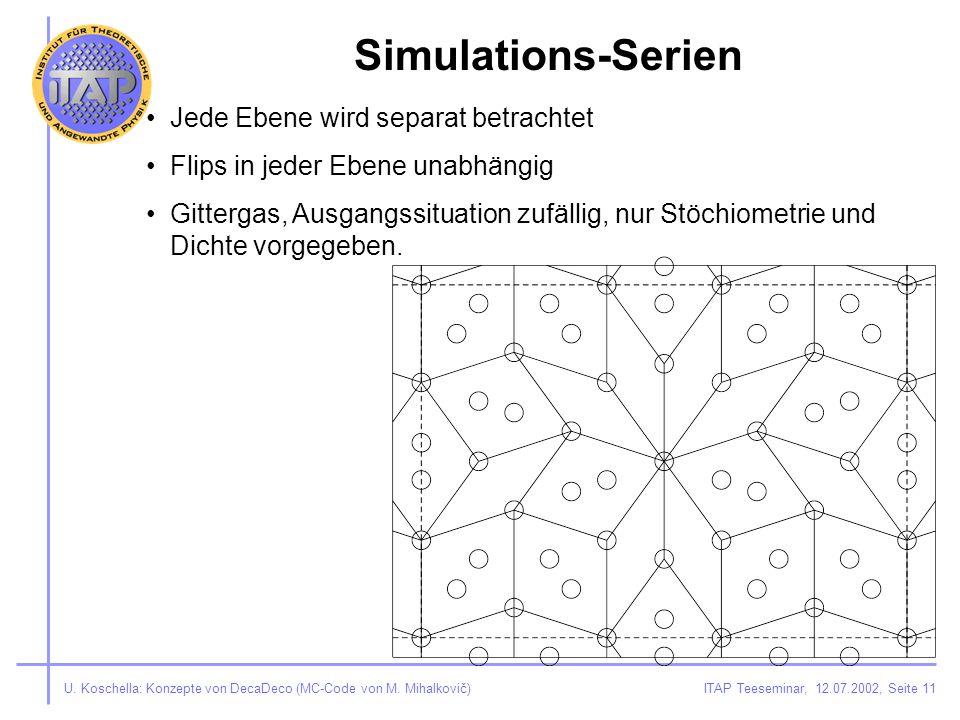ITAP Teeseminar, 12.07.2002, Seite 11U. Koschella: Konzepte von DecaDeco (MC-Code von M.
