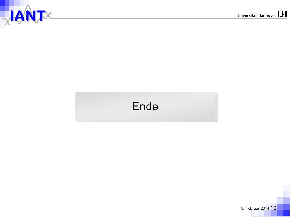 IANT 10 9. Februar 2014 Universität Hannover Ende