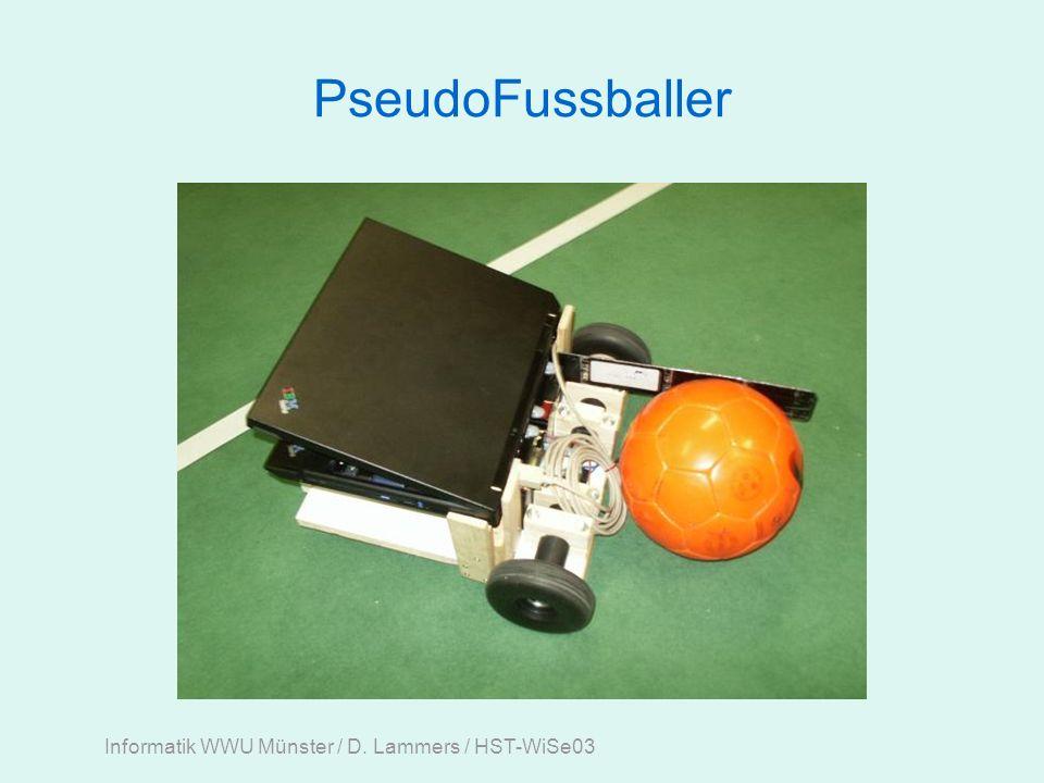 Informatik WWU Münster / D. Lammers / HST-WiSe03 PseudoFussballer