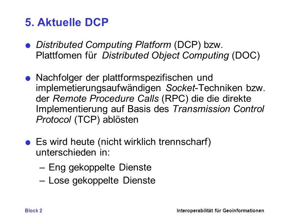 Block 2Interoperabilität für Geoinformationen 5.
