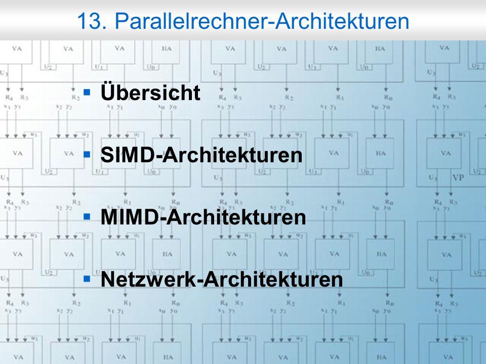 Rechneraufbau & Rechnerstrukturen, Folie 13.3 © W. Oberschelp, G. Vossen Flynn-Klassifikation