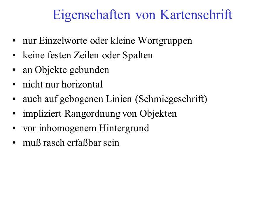 schlichte Zeichensätze: Münster statt Münster nicht nur Großbuchstaben: Münster statt MÜNSTER nicht zu breit und nicht zu eng: Münster statt M ü n s t e r oder Münster Fettschrift nur gezielt in Ausnahmefällen: Münster statt Münster Stil-Kriterien (1)